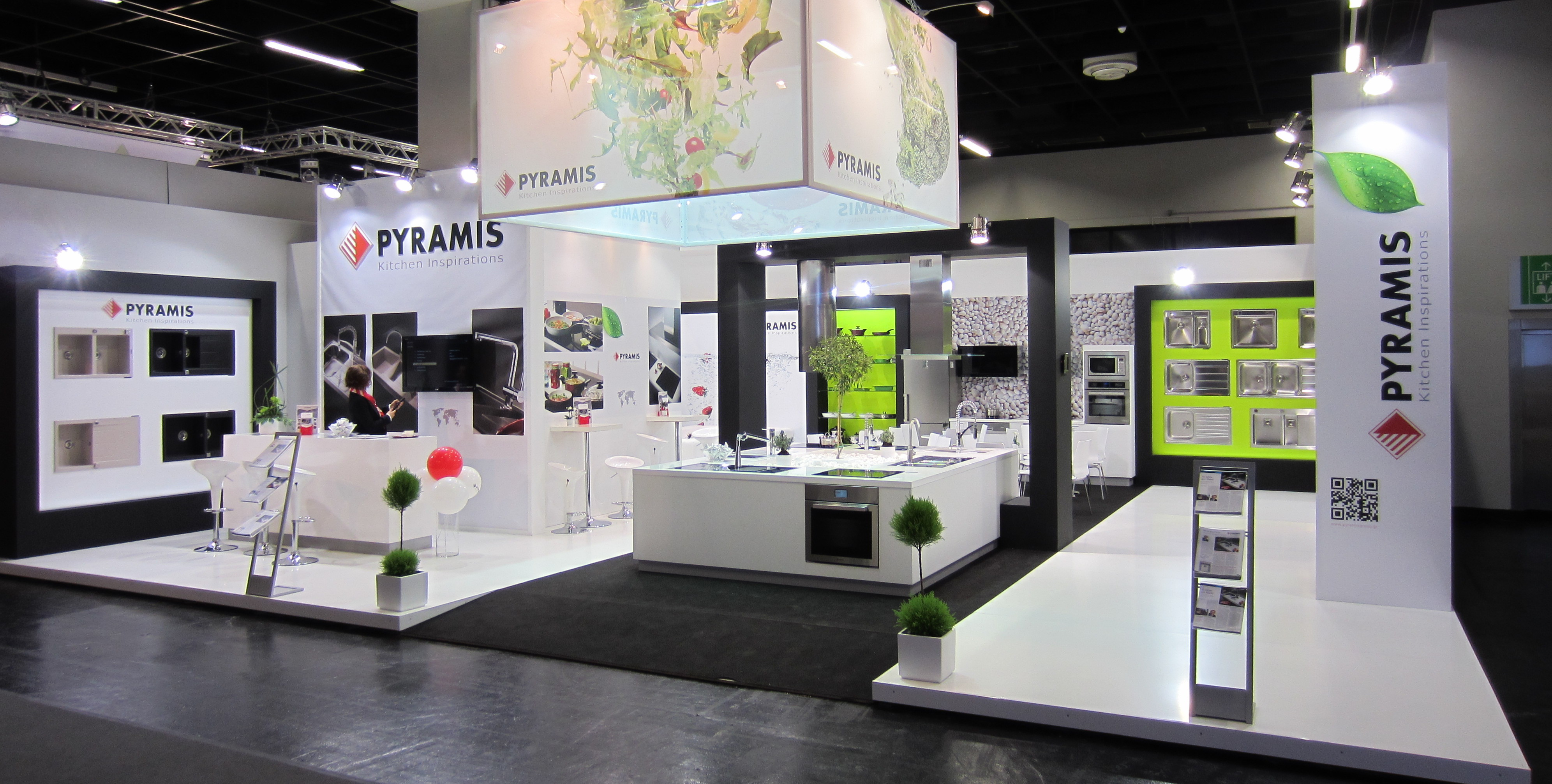 "Exhibition Stand Kitchen : Pyramis metallourgia a e participation at ""living kitchen"